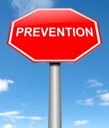 Illustration depicting a sign with a prevention concept.