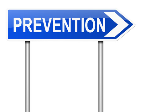 avoiding: Illustration depicting a sign with a prevention concept.