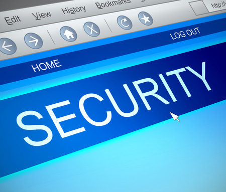 capture: Illustration depicting a computer screen capture with a security concept. Stock Photo