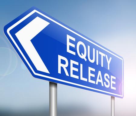 equidad: Ilustraci�n que muestra una se�al con un concepto de liberaci�n de capital.