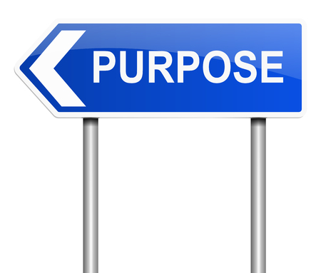 hoping: Illustration depicting a sign with a purpose concept. Stock Photo
