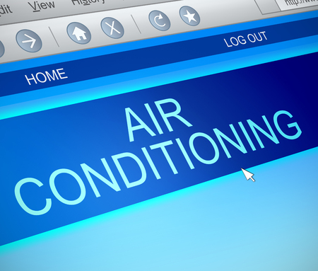 capture: Illustration depicting a computer screen capture with an air conditioning concept.