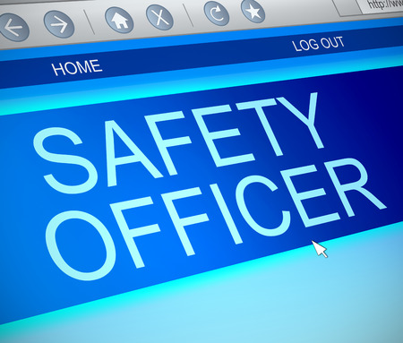 safety officer: Illustration depicting a computer screen capture with a Safety Officer concept.