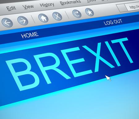 capture: Illustration depicting a computer screen capture with a Brexit concept.