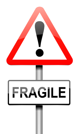 infirm: Illustration depicting a sign with a fragile concept.