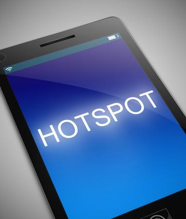 hotspot: Illustration depicting a phone with a hotspot concept.