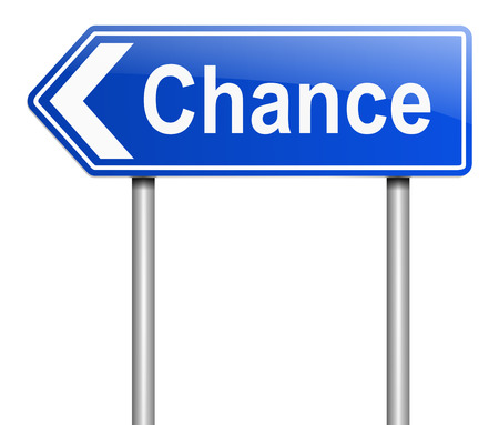 promising: Illustration depicting a sign with a chance concept.