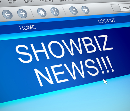 capture: Illustration depicting a computer screen capture with a showbiz concept. Stock Photo
