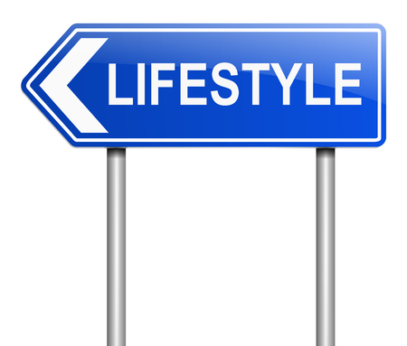 circumstances: Illustration depicting a sign with a lifestyle concept.