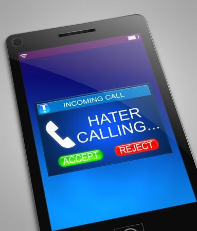 Illustration représentant un téléphone avec un concept d'appel ennuyant. Banque d'images - 80193850
