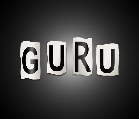 acharya: 3d Illustration depicting a set of cut out printed letters arranged to form the word