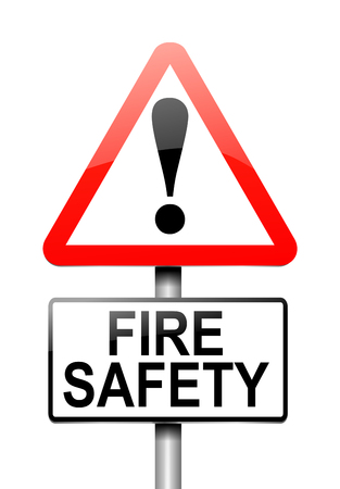 hazard sign: 3d Illustration depicting a warning sign with a fire safety concept. Stock Photo