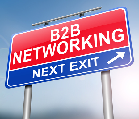 3d Illustration depicting a sign with a b2b networking concept. Stock Photo