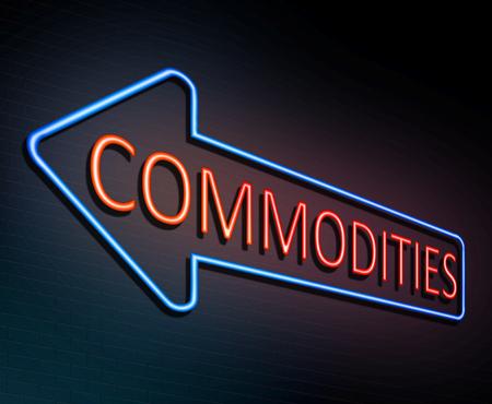 3d ilustración que muestra un letrero de neón iluminado con un concepto de productos básicos. Foto de archivo - 84393417