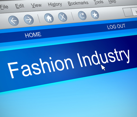 3d Illustration depicting a computer screen capture with a Fashion Industry concept.