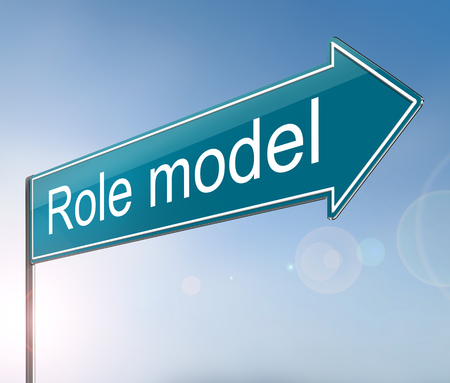 3d Illustration depicting a sign with a role model concept. Stock Photo