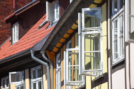 transom: Open windows at traditional houses