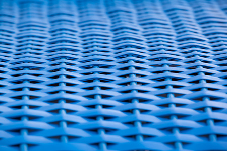 interdependent: Texture of blue plastic mesh structure closeup Stock Photo