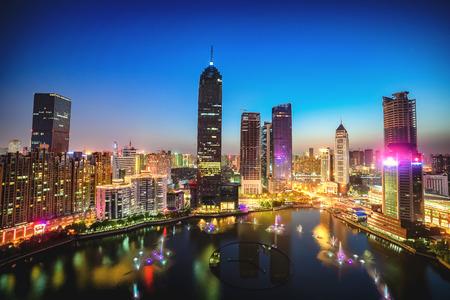 wuhan: Night view of Wuhan Editorial