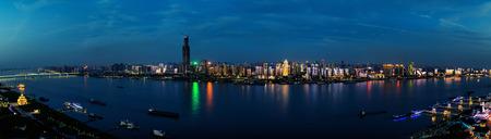 Wuhan riverside panorama