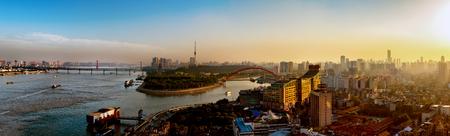 Qingchuan Bridge panorama Editorial