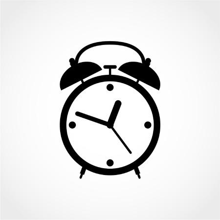 Alarm clock Icon Isolated on White Background Çizim