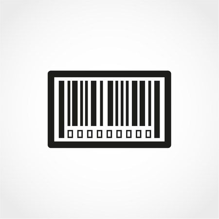 Bar code Icon Isolated on White Background