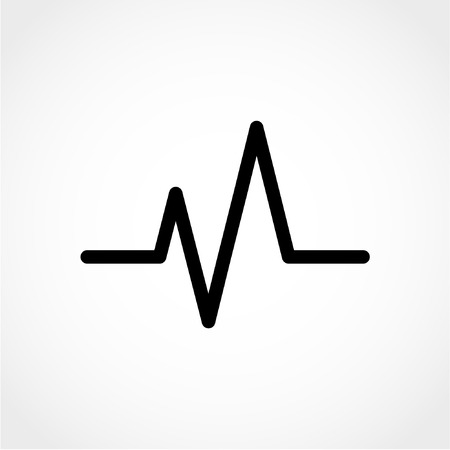 ecg monitoring: Cardiogram Icon Isolated on White Background Illustration