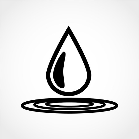 Water drop icon Isolated on White Background