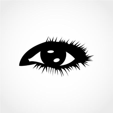 Eye Icon Isolated on White Background