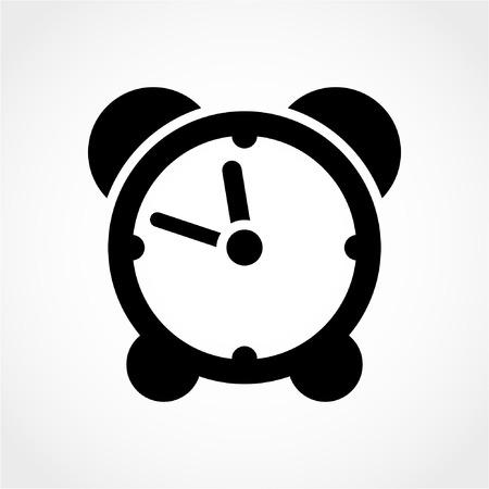 despertador: Icono del reloj aisladas sobre fondo blanco