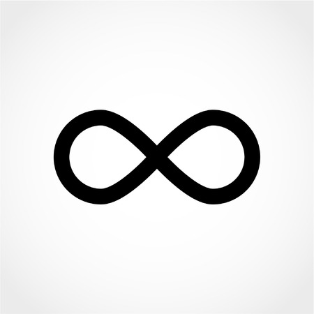 Limitless sign icon. Infinity symbol Isolated on White Background 向量圖像