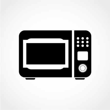 Kitchen electric stove symbol. Microwave oven sign Icon Isolated on White Background