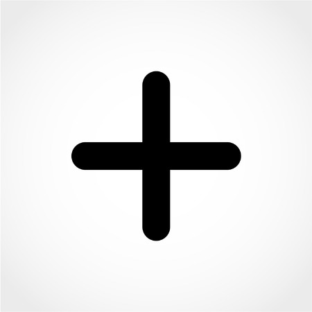 Positive symbol. Zoom in. Plus sign Icon Isolated on White Background