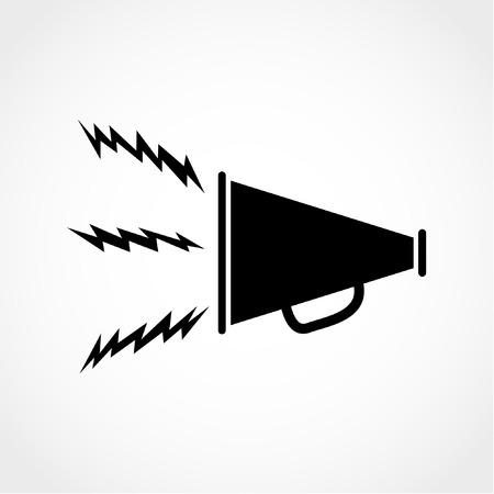Loudspeaker strike symbol. Megaphone sign Icon Isolated on White Background