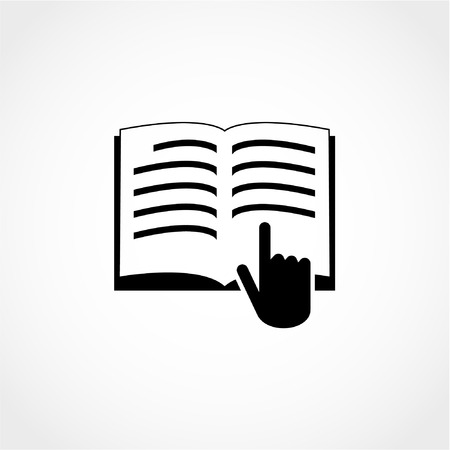 Manual book symbol. Read before use. Instruction sign Icon Isolated on White Background Illustration