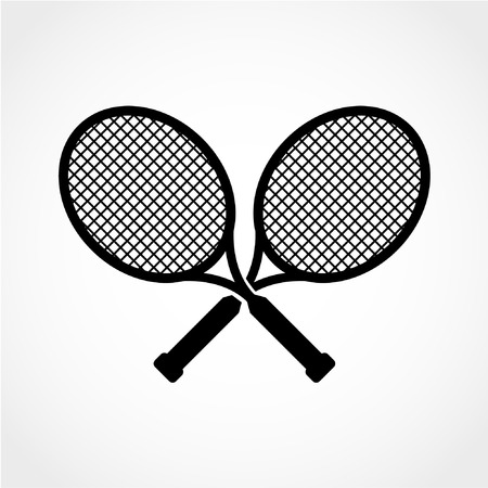 Sport symbol. Tennis rackets Icon Isolated on White Background