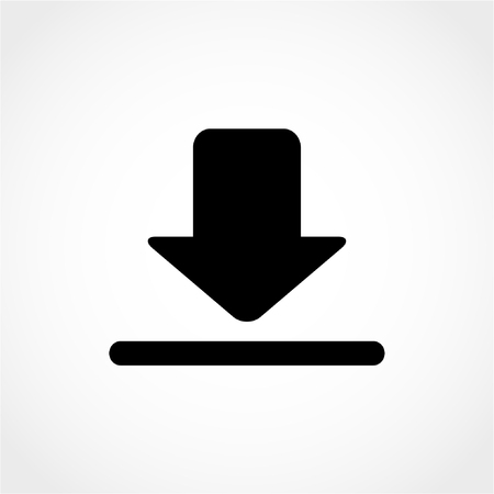 Upload button. Load symbol. Download Icon Isolated on White Background 向量圖像