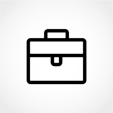 Briefcase Icon Isolated on White Background 向量圖像