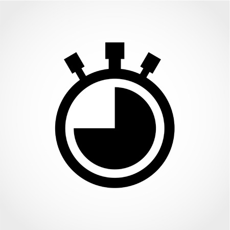 stopwatch: Watch Icon Isolated on White Background