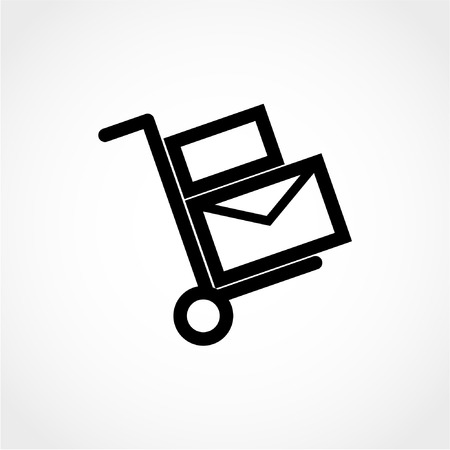 handcart: Handcart Icon Isolated on White Background Illustration
