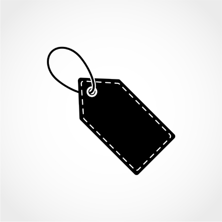 Price tag Icon Isolated on White Background