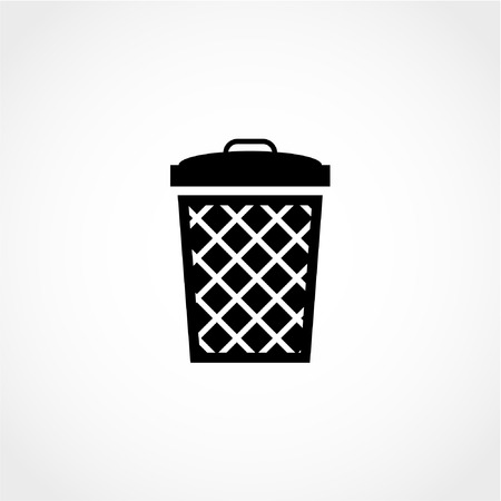 Bin Icon Isolated on White Background Vettoriali