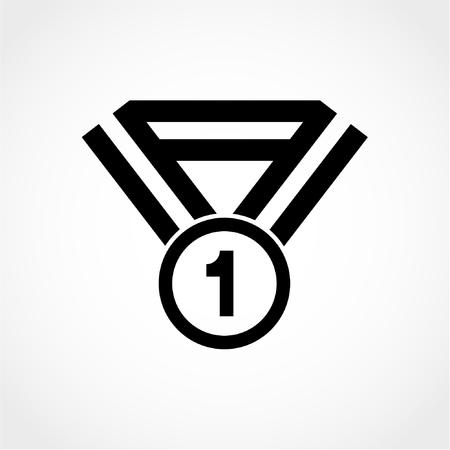 Award-Symbol auf weißem Hintergrund isoliert Standard-Bild - 50992236