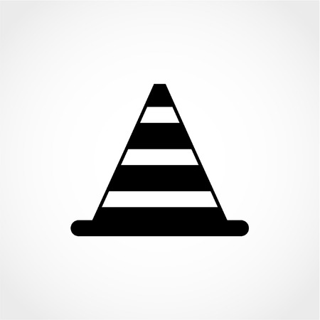 traffic pylon: Traffic cone Icon Isolated on White Background