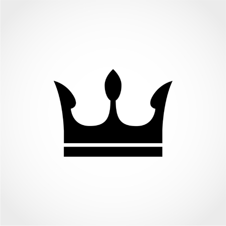 Crown Icon Isolated on White Background Illustration