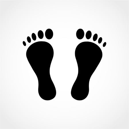 Footprint Icon Isolated on White Background