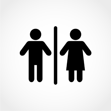 Man and Woman Icon Isolated on White Background