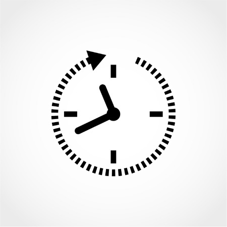 24 hour: 24 hour assistance, clock Icon Isolated on White Background