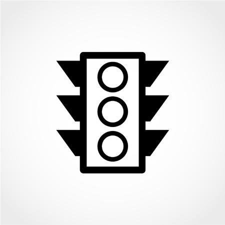 Traffic light Icon Isolated on White Background